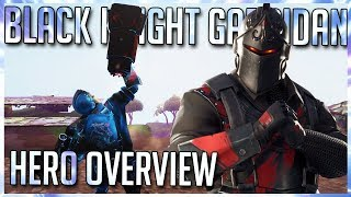 BLACK KNIGHT GARRIDAN: THE ANIME! FORTNITE SAVE THE WORLD HERO OVERVIEW!