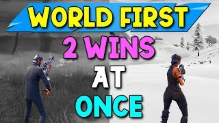 2 Solo Wins at the Same Time! (FULL GAMES) - Fortnite World First