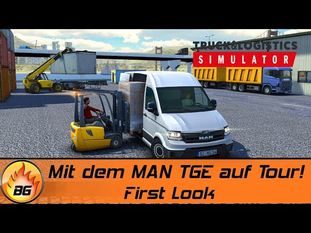 TRANSPORT COMPANY SIMULATOR #1: Mit dem MAN TGE auf Tour! | Logistik Simulator | First look [HD]