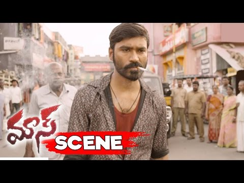 Dhanush Stunning Action Scene - Dhanush Warns Bird Ravi Gang - Maari Movie Scenes