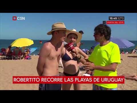 Roberto Funes recorre las playas de Uruguay