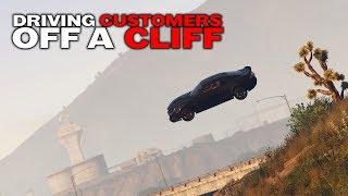 DRIVING CUSTOMERS OFF A CLIFF | UBER DRIVER KILLS (GTA 5 RP) (PART 2)
