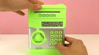 HOME MONEY SAFE WITH PASSWORD! Bills & Coins in the Safe! Protect Your Money!