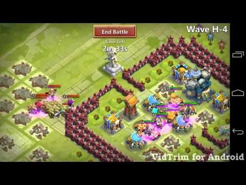 Castle Clash - Farming HBM H At Town Hall 16
