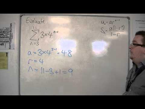 AQA Core 2 5.19 Using Sigma Notation for Geometric Series