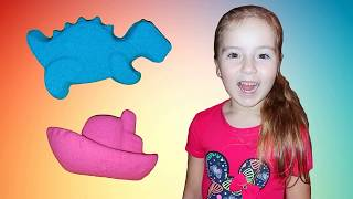 Kinetic Sand for kids Learning Colors