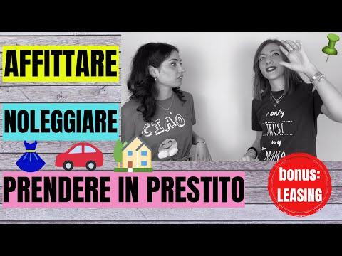AFFITTARE - NOLEGGIARE - PRESTARE + LEASING: Qual è la differenza? Come si usano? Impara l'ITALIANO!