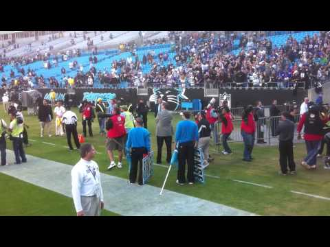 Ravens @ Carolina Panthers Game - 5 Minutes after game ends...Awesome!