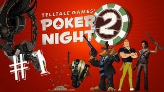 Telltale Games: Poker Night 2 - Walkthrough - Part 1 - Texas Hold Em - Gameplay Let