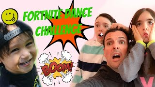 Cutest Fortnite Dance Challenge in Real life with Eh Bee family