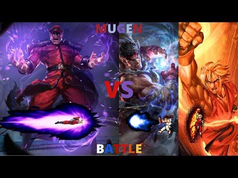 M. Bison/Vega vs Ryu & Ken
