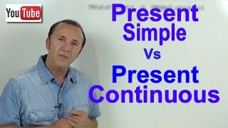 INGLÉS. Present Simple Vs Present Continuous (updated)