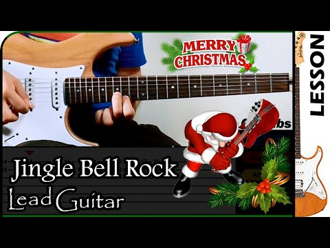 How to play Jingle Bell Rock (Intro, Solo) 🎅 / GuiTabs Guitar Tutorial 🎸