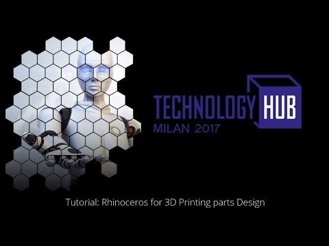 Tutorial Rhinoceros for 3D Printing parts Design