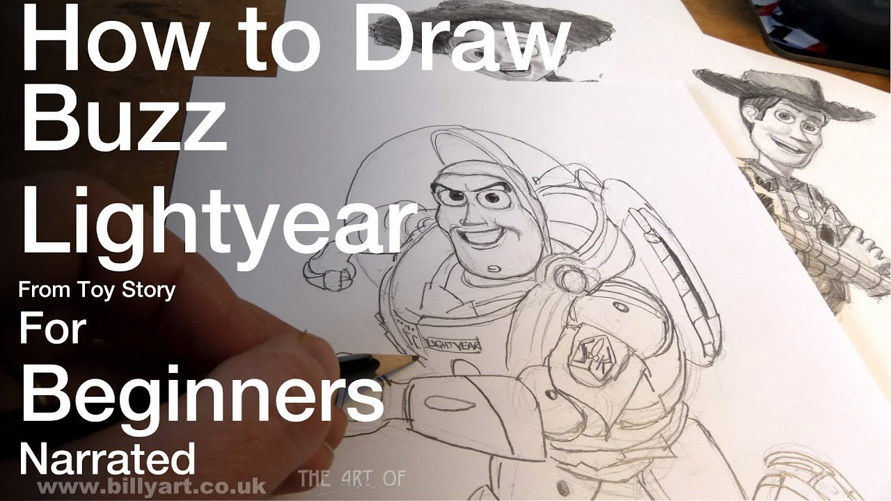 how to draw buzz lightyear from toy story for beginners youtube