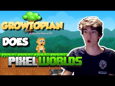 GROWTOPIAN DOES PIXEL WORLDS!! | TERY