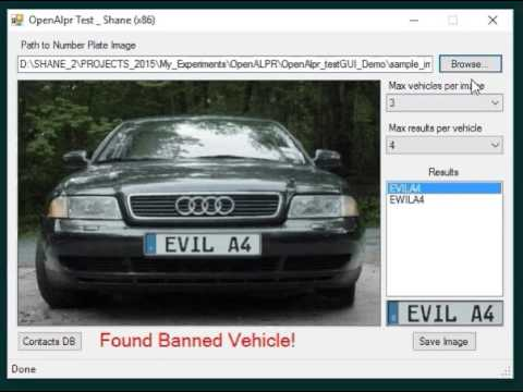 Automatic Number Plate Recognition (VB NET) | Punkisnail