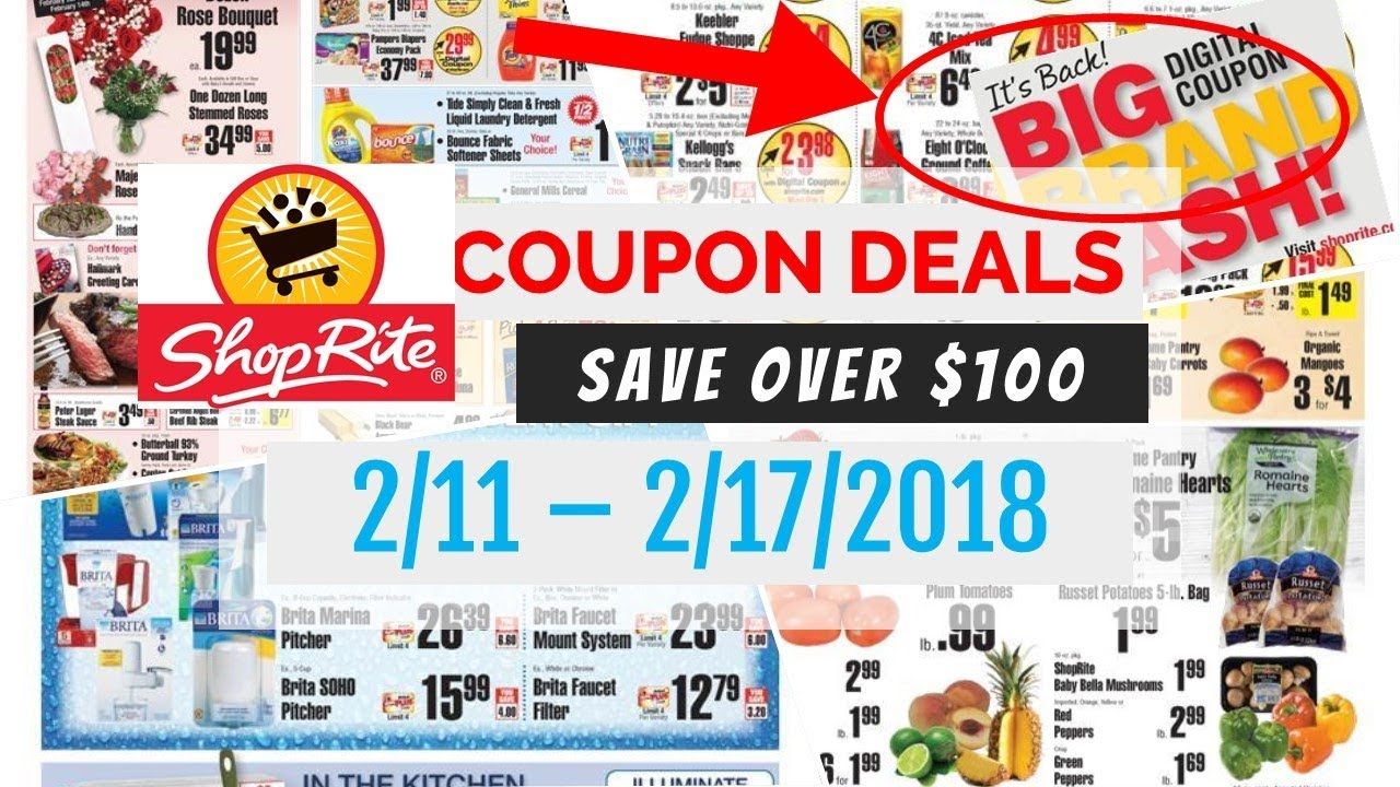 ShopRite Coupon Deals February 11 - 17, 2018 Digital Coupons - YouTube