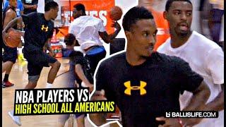 NBA Players vs HS All Americans!! Kemba Walker, Tyreke Evans & B.Jennings GO AT Top HS Players!