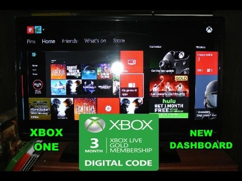 How To Redeem Your Code On Xbox Live On Your New Xbox One
