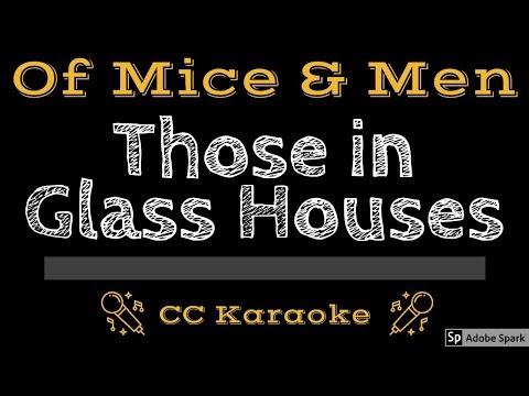 Of Mice & Men • Those in Glass Houses (CC) [Karaoke Instrumental Lyrics]