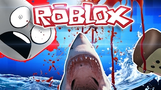 LET'S PLAY ROBLOX-ESCAPE THE SHARK OBBY!! RUN MONKEYS!!