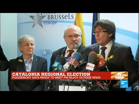 Catalonia regional vote: Former Catalan leader Carles Puigdemont gives press conference