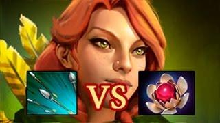 Windranger Focus Fire vs. Lotus Orb
