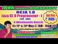 OCJA 1.8 Java SE 8 Programmer - I (1Z0 - 808) Online Training in DURGASOFT