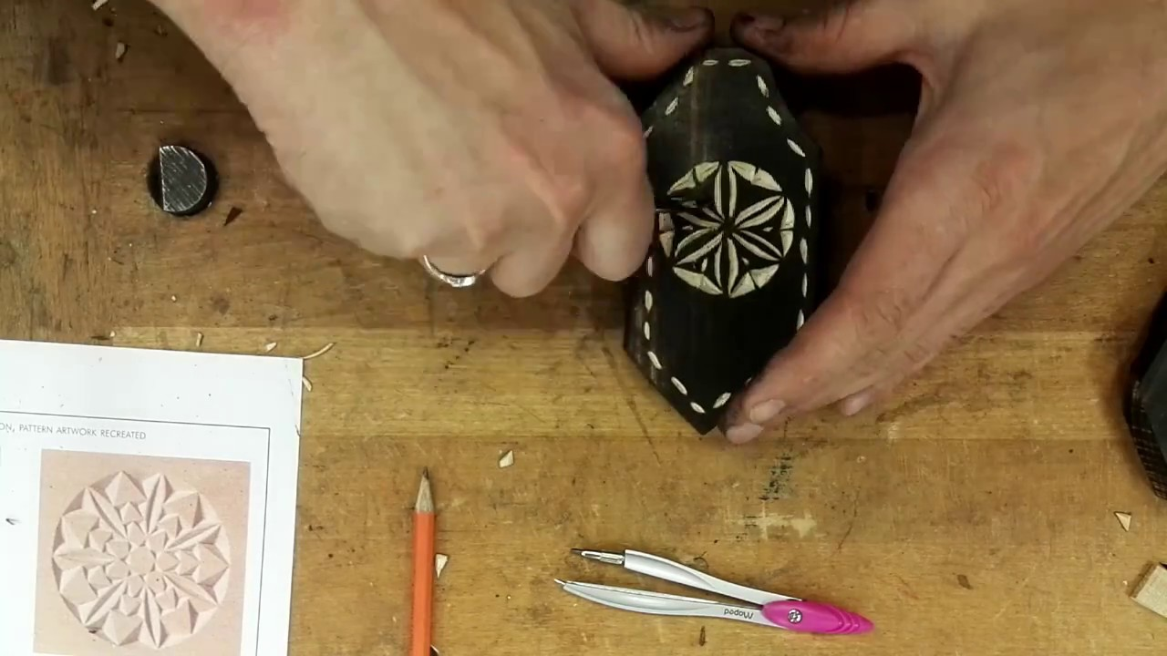 Hand cut christmas decorations chip carving on burnt wood youtube