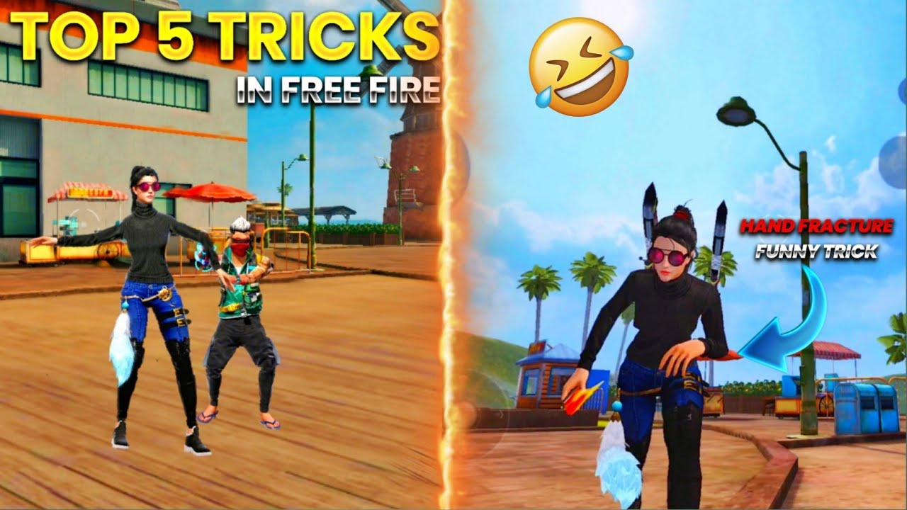 Top 5 unknown Tricks To surprise your friends and enemies || tricks and tips for free fire #24