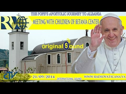 Pope Francis in Tirana, Meeting with the children of the Betania Center