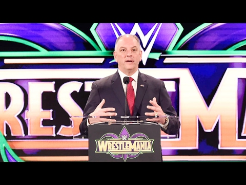 Louisiana Gov. John Bel Edwards announces New Orleans as the home of WrestleMania in 2018