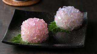 梅雨の季節に♪ 紫陽花の和スイーツ