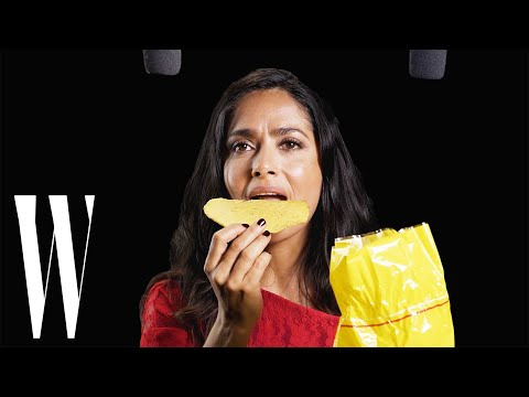 Salma Hayek Explores ASMR with Whispers, Tostadas, and a Paintbrush  W Magazine