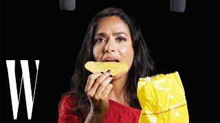 Salma Hayek Explores ASMR with Whispers, Tostadas, and a Paintbrush | W Magazine