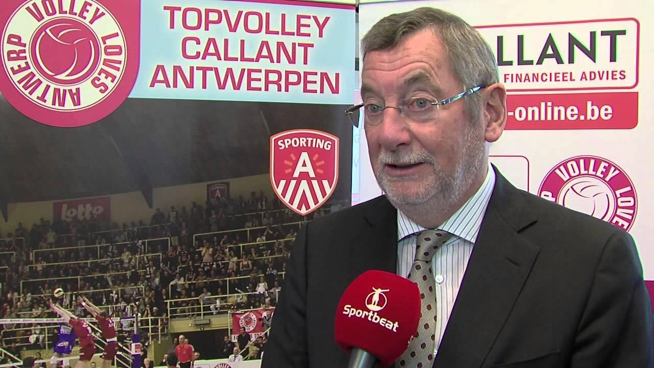 Voorzitter Bernhard Samyn Op Persconferentie Topvolley