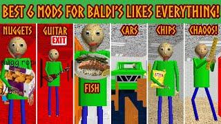Best 6 Mods for Baldi's Likes Everything | [Baldi's Basics Mod]