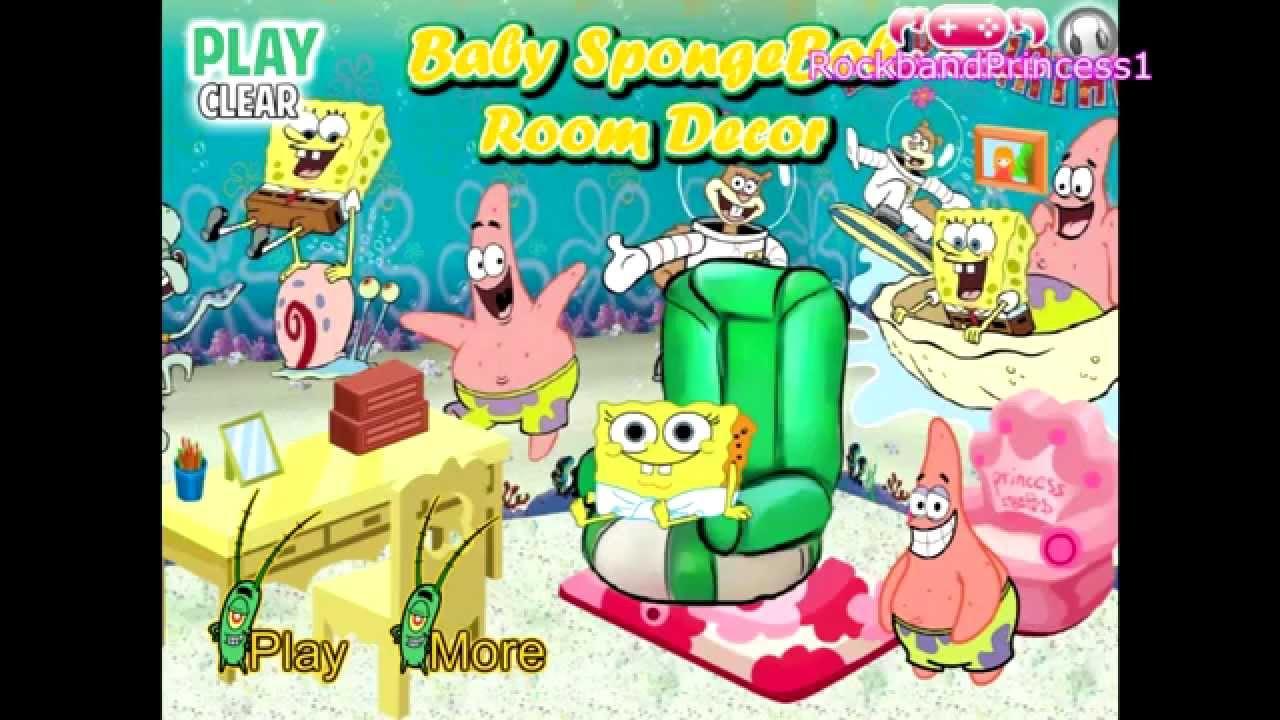 Spongebob Squarepants Baby Room Decor Play Kids Games
