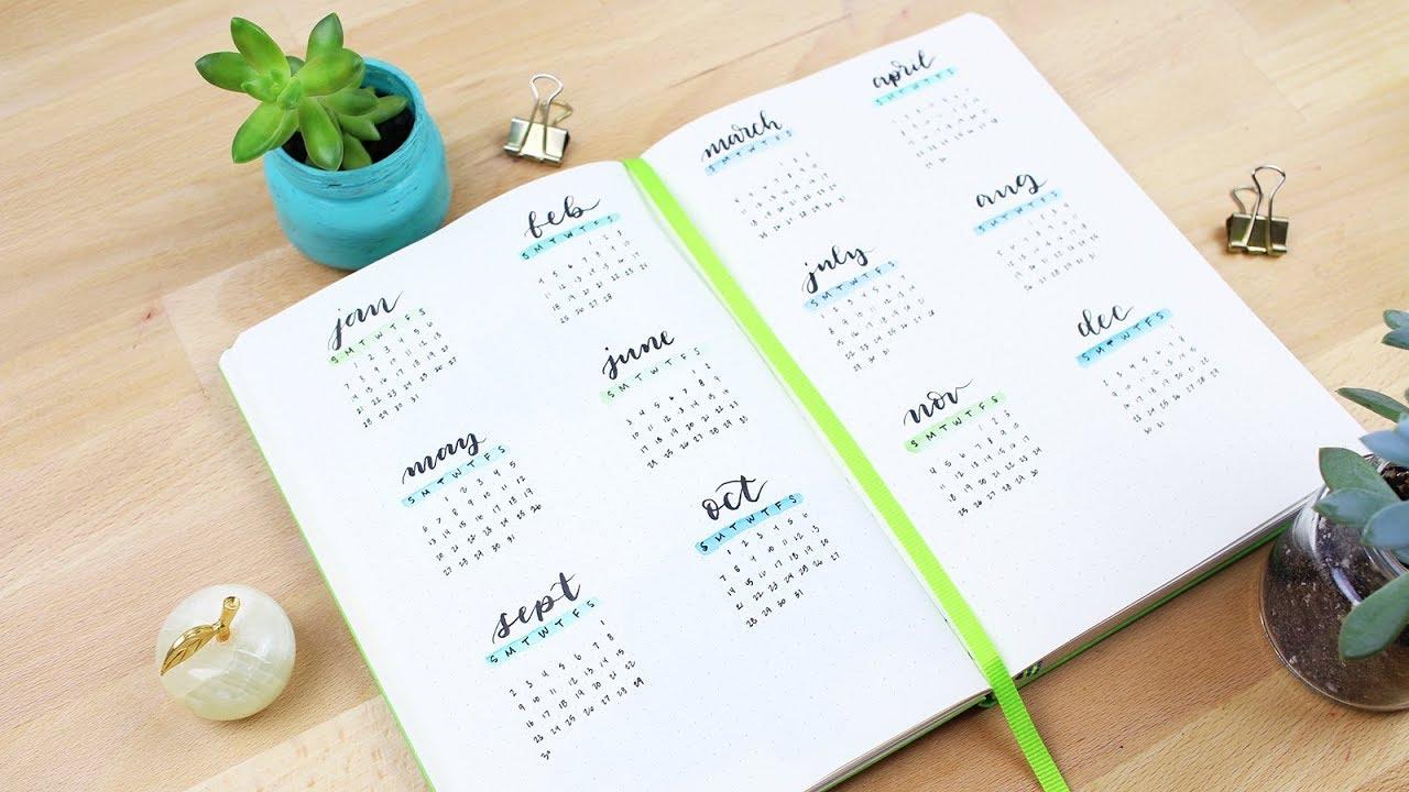 Calendrier 2019 Bullet Journal.2018 Thumbnail Calendar Set Up In My Bullet Journal
