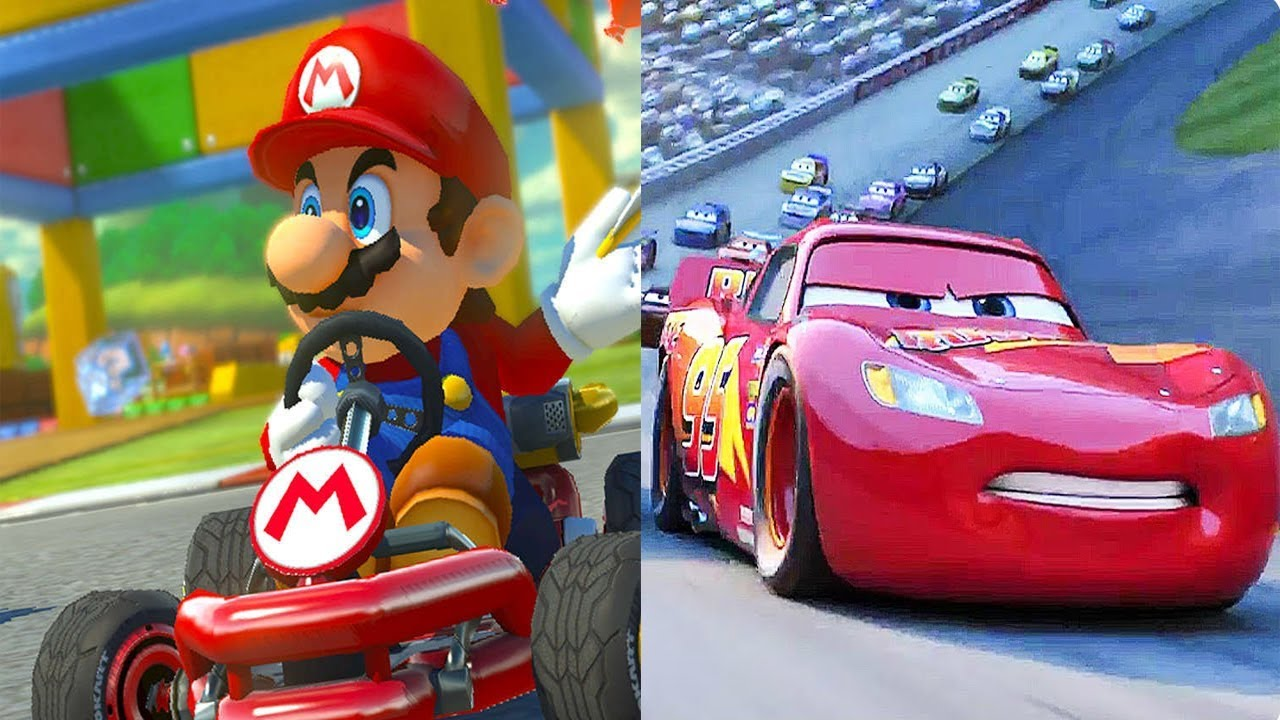 cars toon cars 3 vs mario kart 8 deluxe gameplay youtube. Black Bedroom Furniture Sets. Home Design Ideas