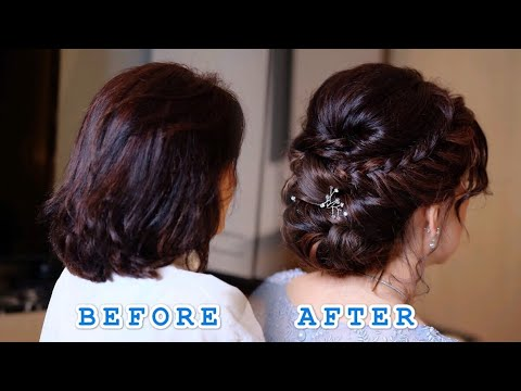 UPDO HAIRSTYLE FOR SHORT HAIR TUTORIALS เกล้าผม ผมสั้น