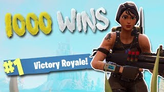 My 1000th Win!!! 15 Kill Solo Gameplay (Fortnite Battle Royale)