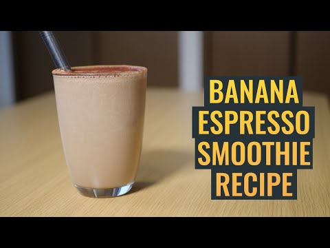 The Most Delicious Banana Espresso Smoothie | No Music, Peaceful Coffee