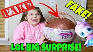 Fake Vs. Real LOL Big Surprise! How To Spot a Fake LOL Big Surprise! Unboxing Fake LOL Dolls