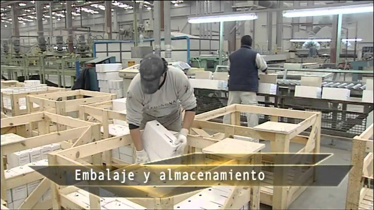 Proceso fabricación mármol para bancadas o encimeras de baños o ...