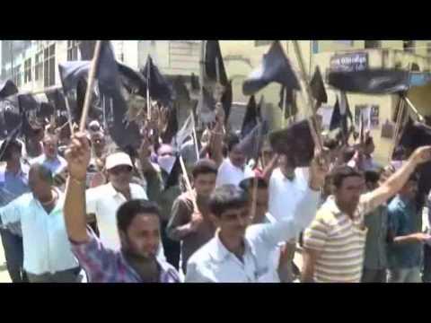 keshod road problem,black flag on politician
