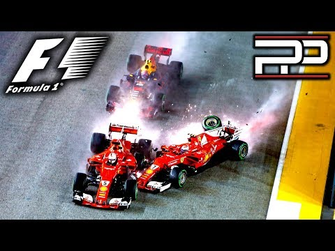 F1 2017 Singapore GP - IT ALL KICKED OFF INTO TURN 1 - Pitlane Podcast #61