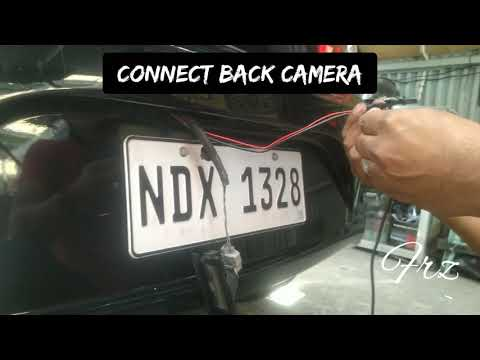 How to install Dashcam to Mitsubishi mirage hatchback? Front and back camera auto Switch reverse cam