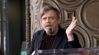 Mark Hamill Speech at his Hollywood Walk of Fame Star Unveiling マークハミル 検索動画 22